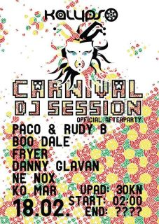 CARNIVAL DJ SESSION official after party