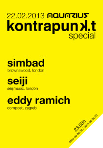 Kontrapunkt @ Aquarius (Zagreb, 22.02.2013) - flyer